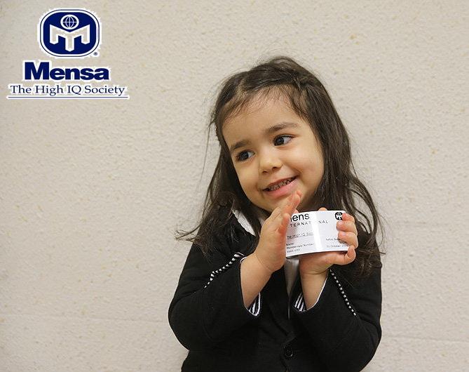 دختر سه ساله ایرانی عضو نوابغ MENSA