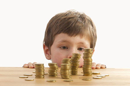 علاقه کودکان به پول