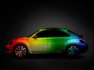 ماشينی که رنگش با موسیقی عوض ميشود!