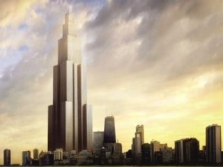 ساخت بلندترين آسمانخراش جهان در ۹۰ روز